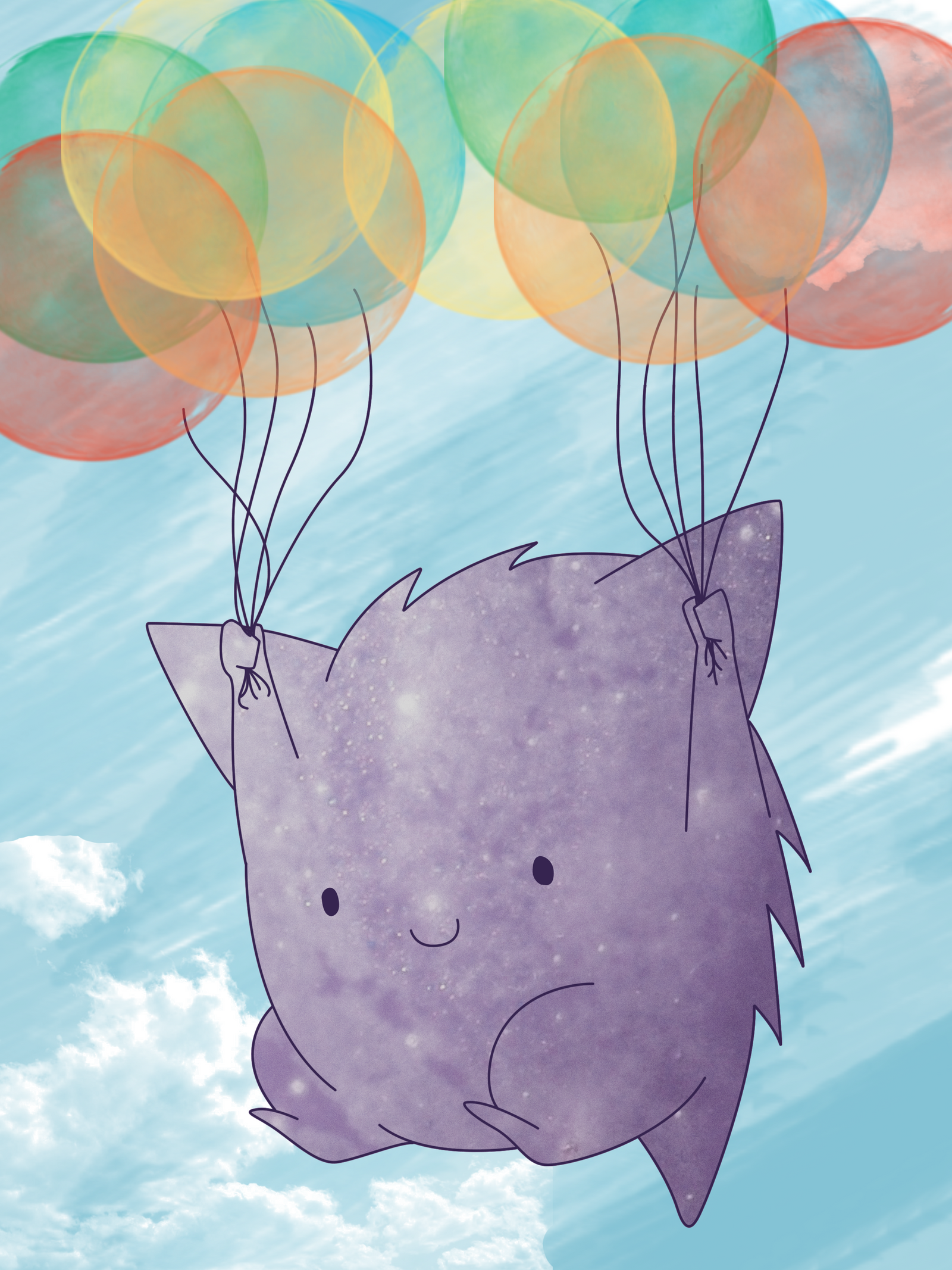 Balloon Gengar by Digillama on DeviantArt