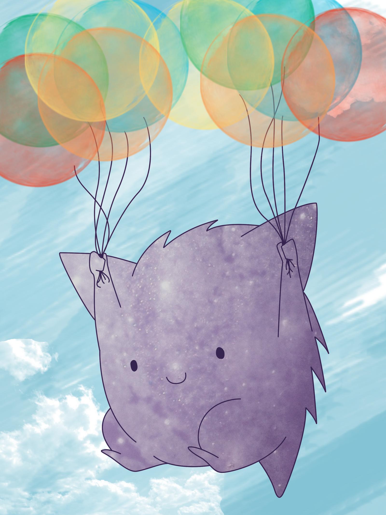 Balloon Gengar by Digillama on DeviantArt