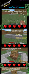 Minecraft Easy- Fountain by Digillama