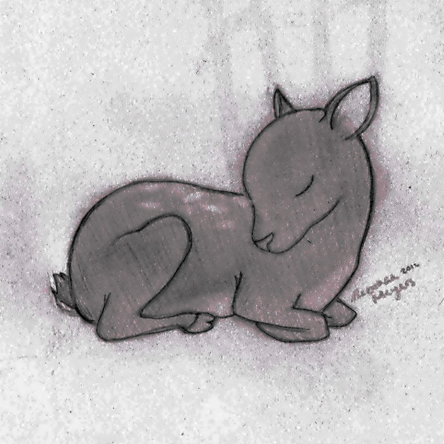 Viewing Gallery For - Baby Deer Drawing