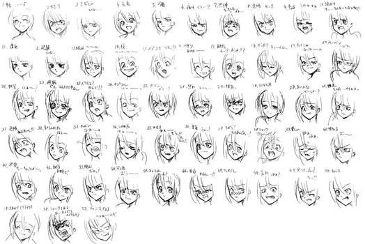 50 Expressions Anime