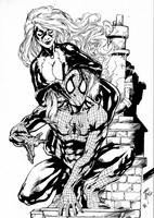 Black Cat And Spider Man by PsychedelicHeroin