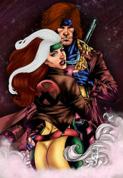 Rogue x Gambit by PsychedelicHeroin