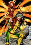 Rogue And Phoenix by PsychedelicHeroin