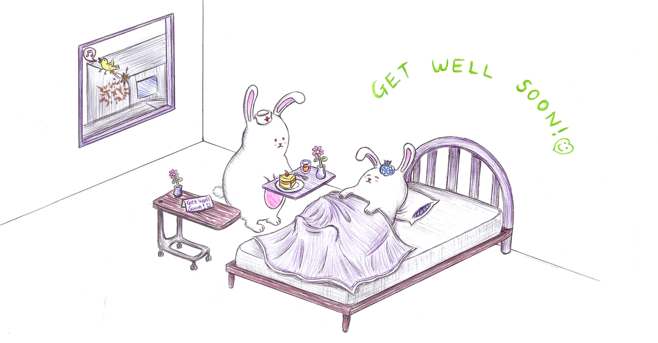 bunny get well soon card by txy45 on deviantart