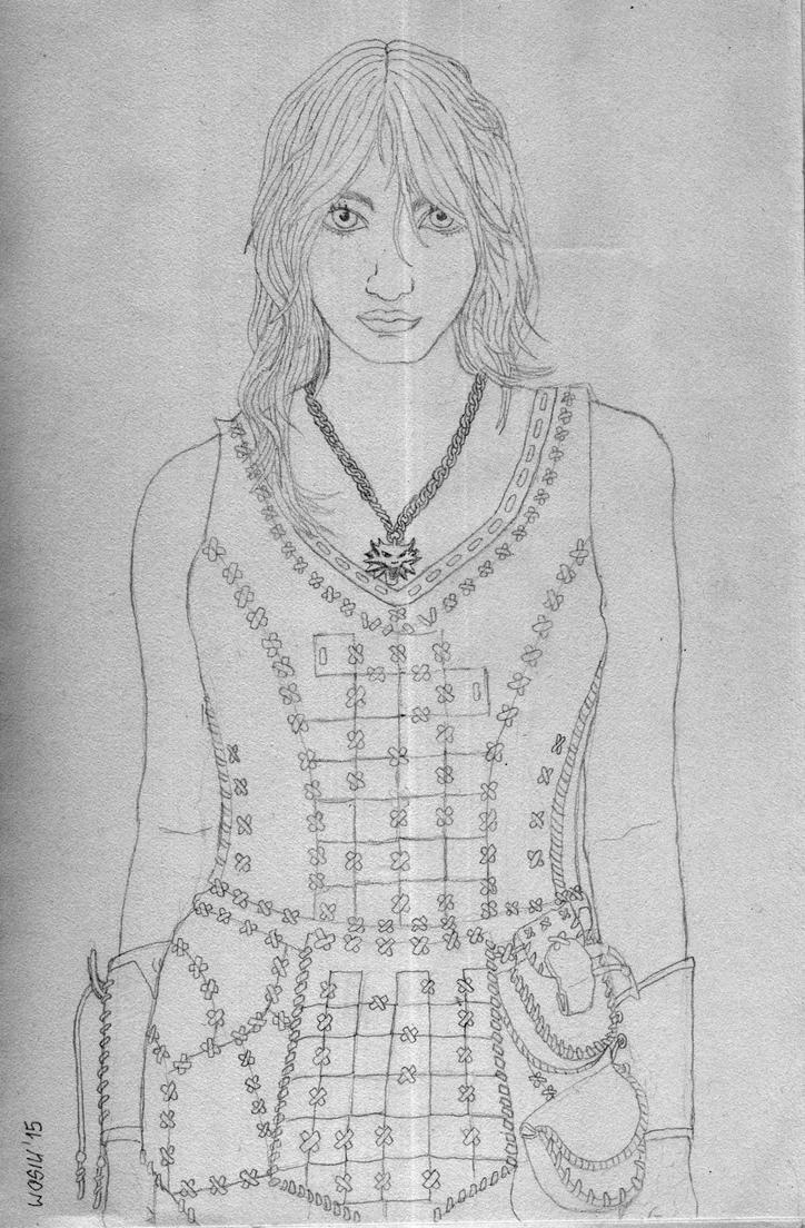 Ciri sketch by Wosiu1989