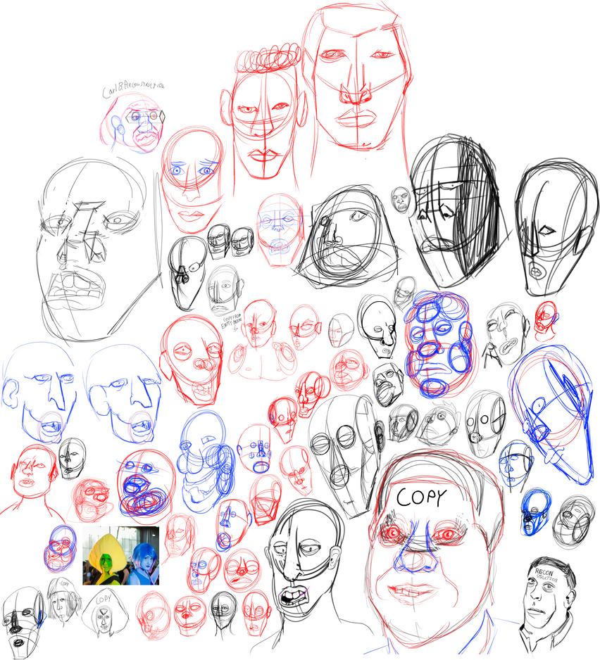 head studies by VGDCMario