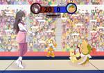 Amamiya Sakura vs Bowser Jr. (Requested Fanart) by klee5760