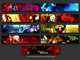 WoW Signature Wall 1 by bedeviere