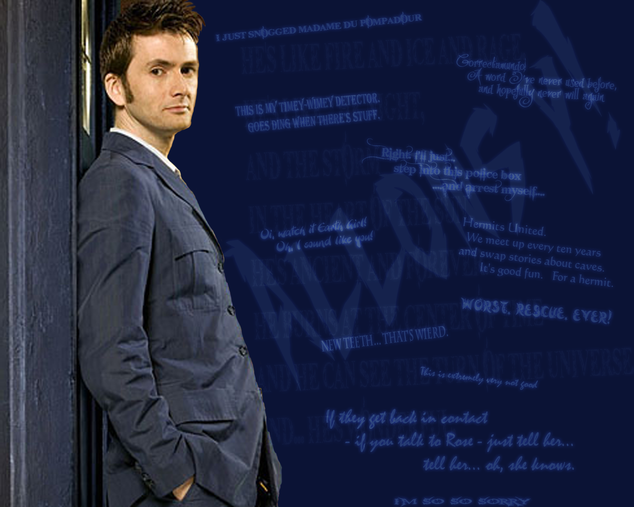 Doctor Who Wallpaper David Tennant Quote David Tennant -...