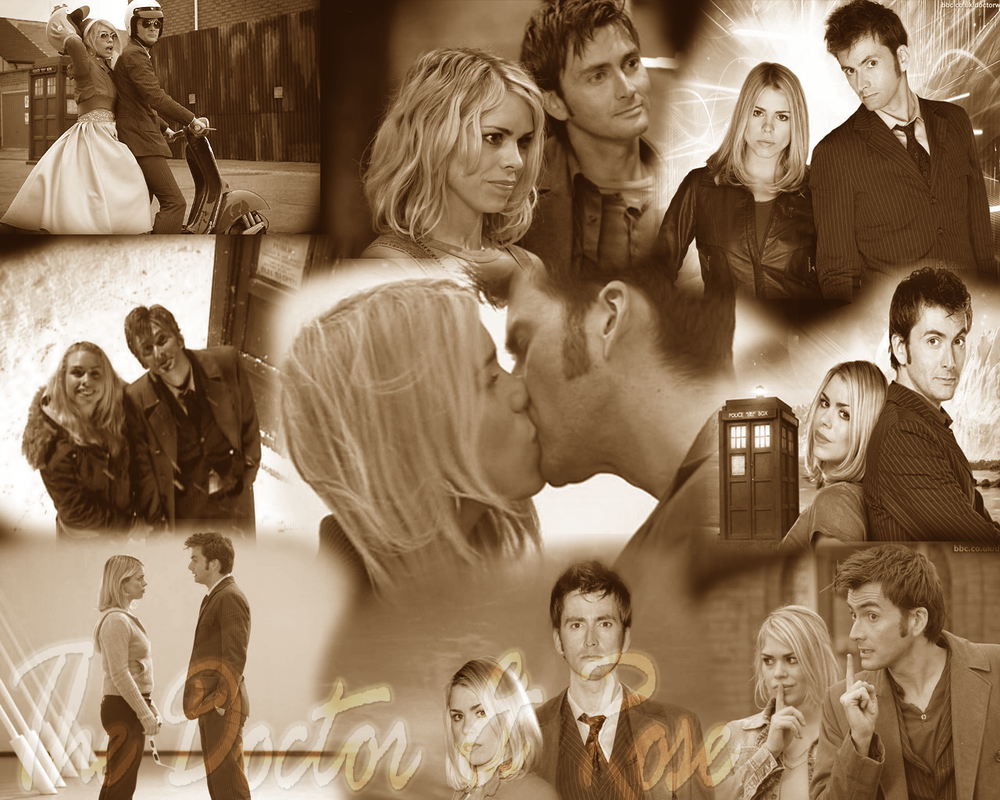 The Doctor And Rose Wallpaper by whiteh-is-me