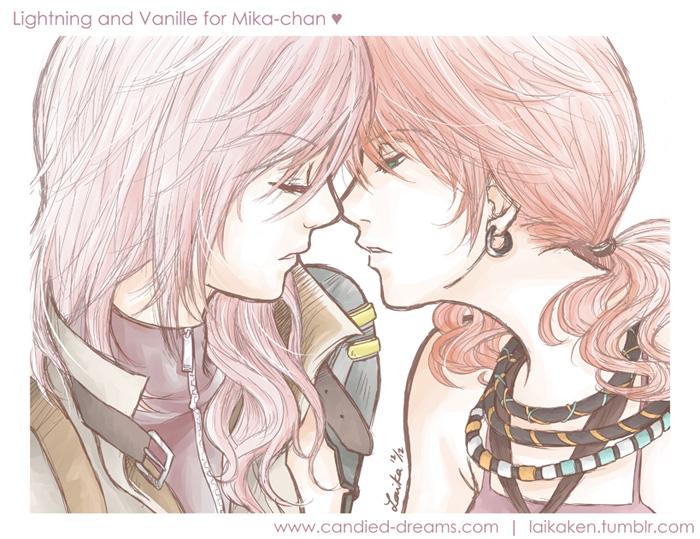 Lightning x Vanille by laikaken