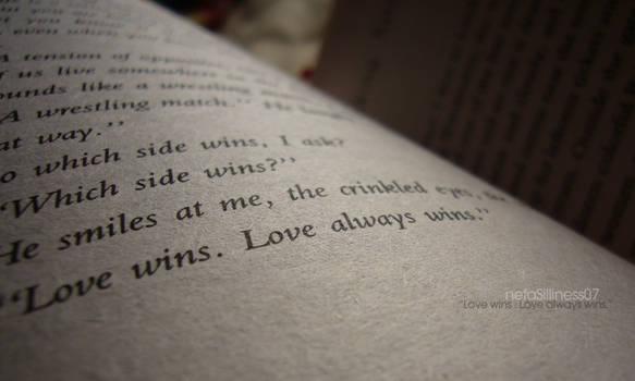 LoveWins.LoveAlwaysWins. by netaSilliness
