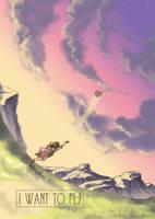 I Want to Fly 05 by inkhana