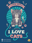 The More I Know People The More I Love Cats by Geekydog