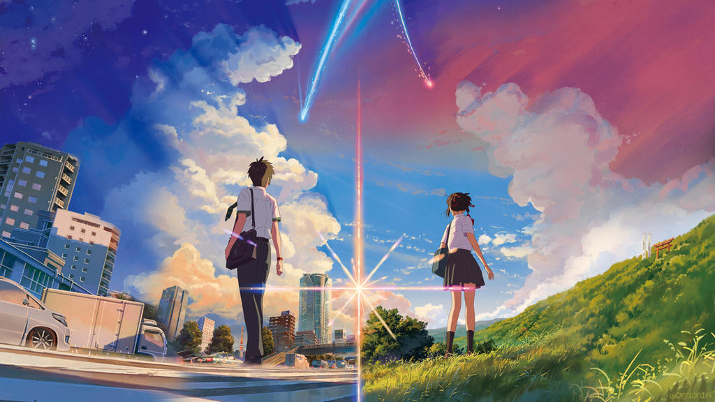 Kimi no Na wa. (Your Name.) - wallpaper 1 by Degonia ...