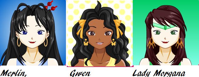 Gwen Morgana and fem Merlin by Meg1 on DeviantArt