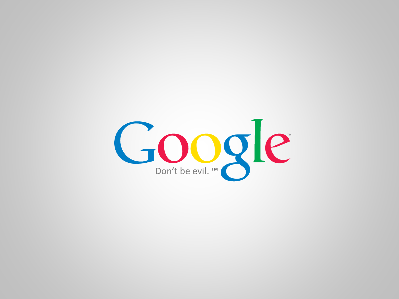 Google - Don't be evil. Wallpaper