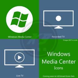 Windows Media Center Icons - in Metro Icon Set