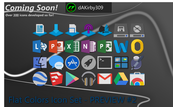 Flat Colors Icon Set - PREVIEW #2