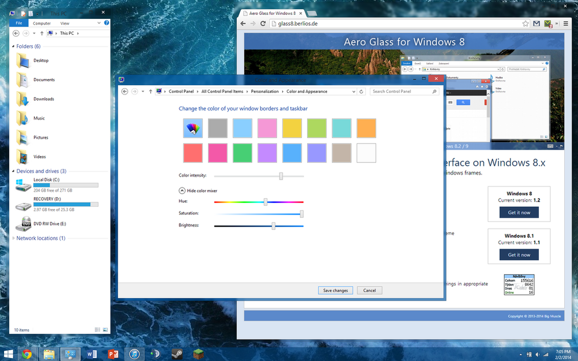 Get Aero Glass for Windows 8 (Fully Native) by dAKirby309