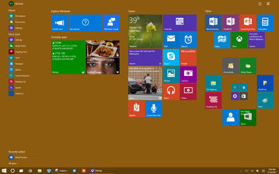 Playing Around with Windows 10
