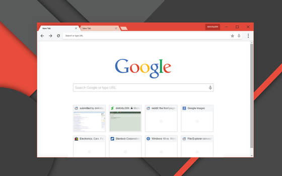 Google Chrome Concept - Material Redesign