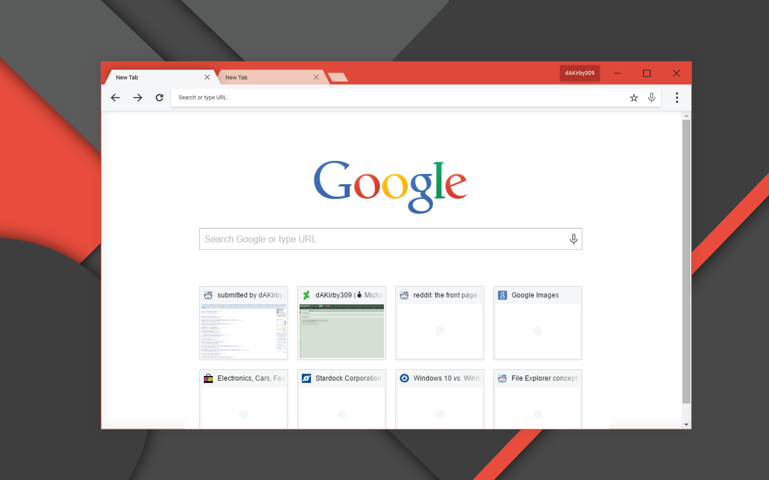 Google themes for windows 10