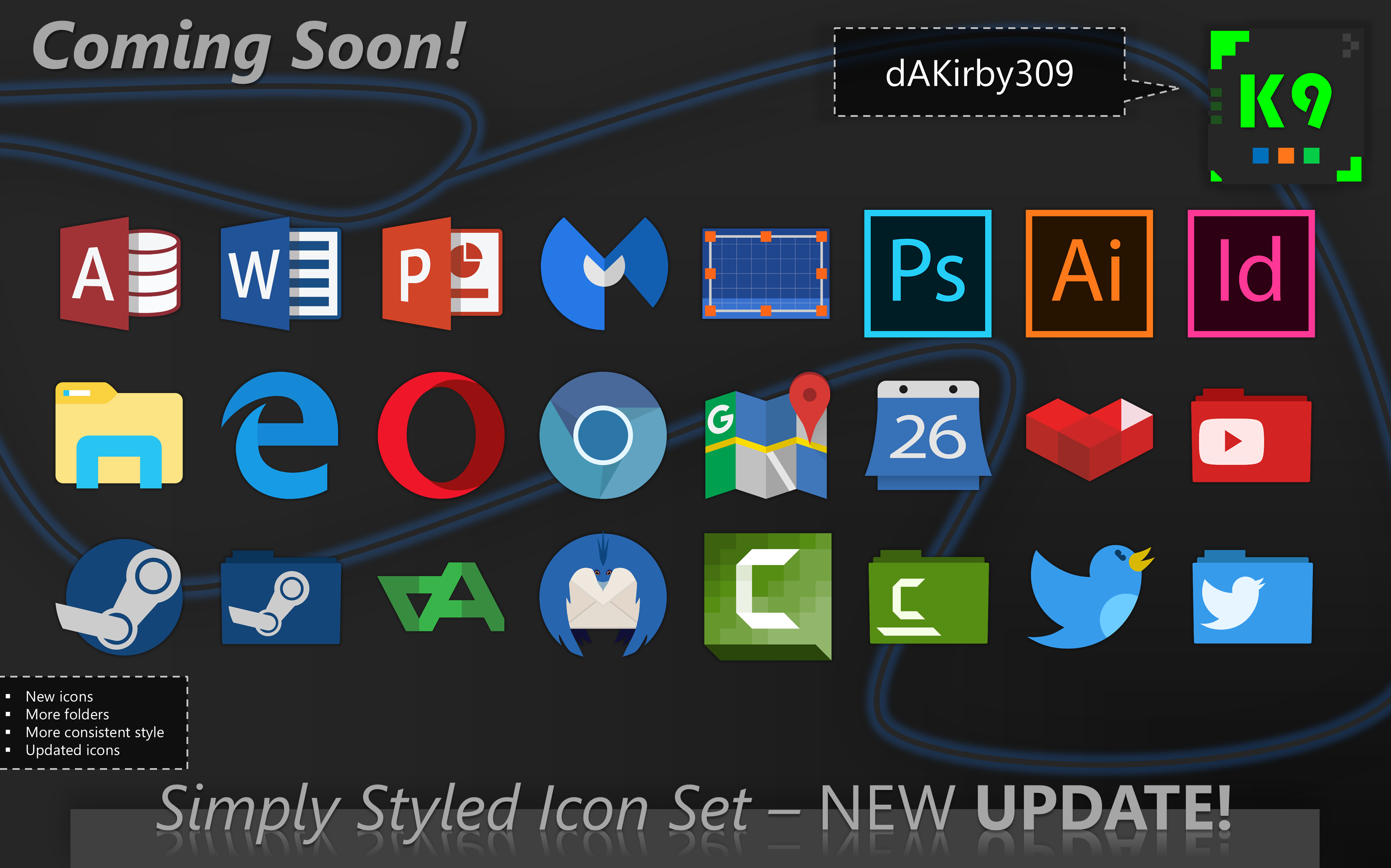 [COMPLETE] Simply Styled Icon Set UPDATE PREVIEW