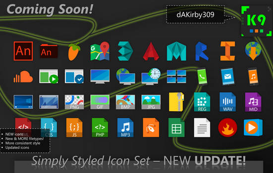UPDATE PREVIEW #1 - Simply Styled Icon Set