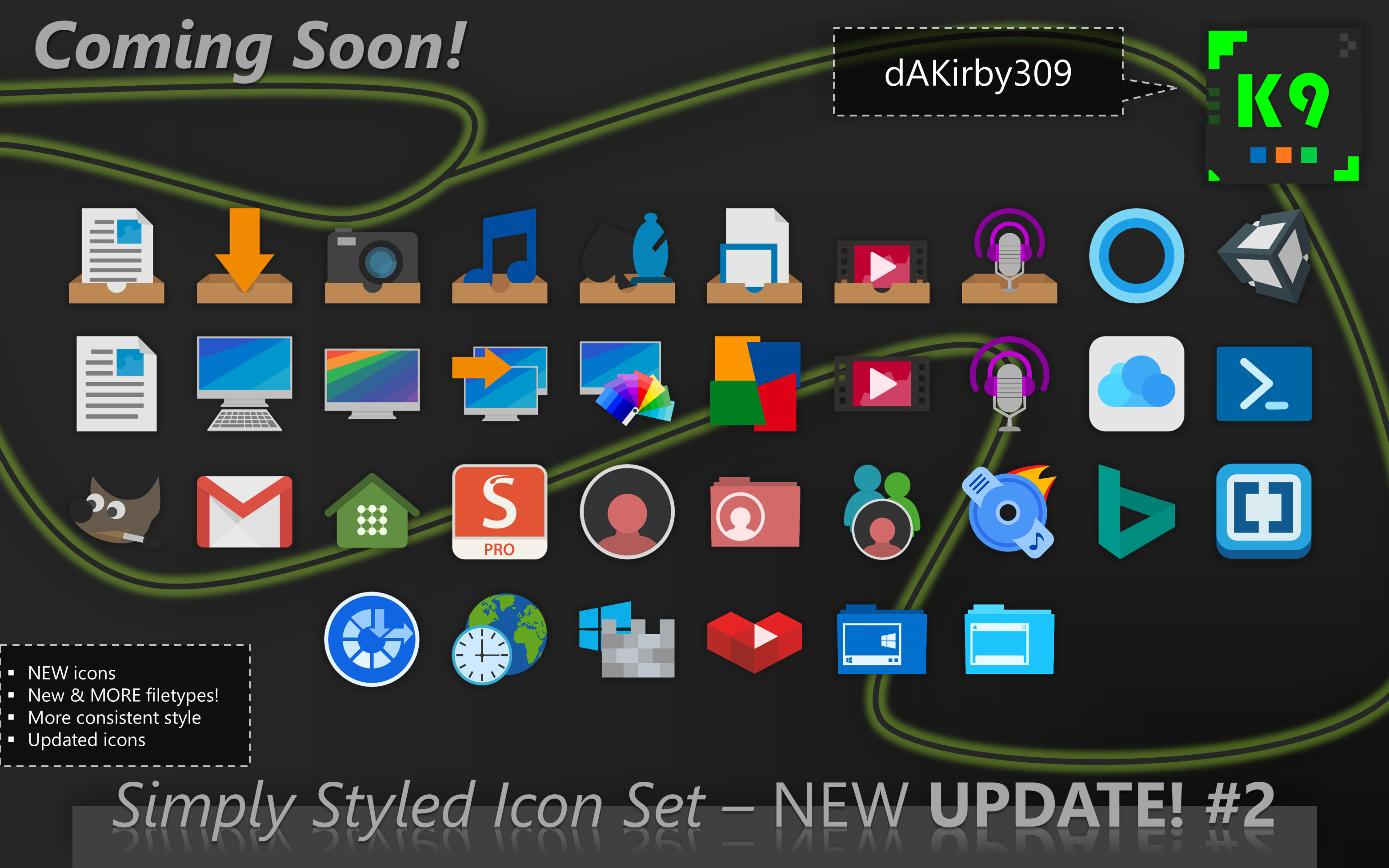 UPDATE PREVIEW #2 - Simply Styled Icon Set by dAKirby309