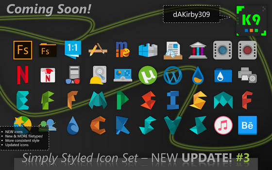 [RELEASED] PREVIEW #3 - Simply Styled Icon Set