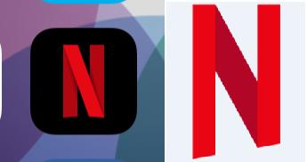 Netflix Logo Vs Netflix Icon by dAKirby309