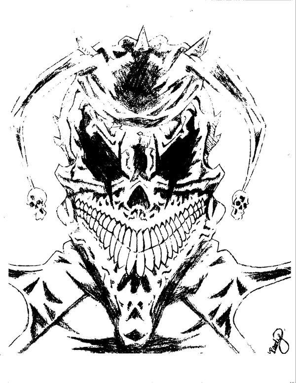Joker skull by vampresssadria on deviantart for Joker skull tattoo