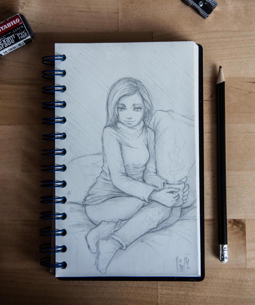 Sketchbook 02 - Coffee Break by Stephany-Q-Vin