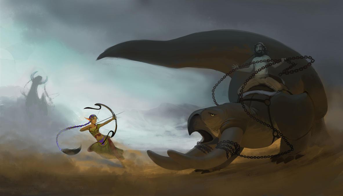 Aouda vs Souix by smmiller09
