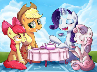 [Request] Sisterly Tea Party by Frank-Seven