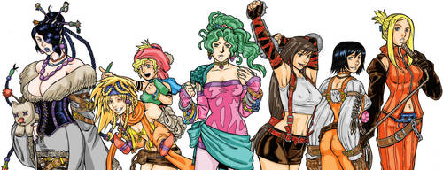 Final Fantasy Girls by randymonki
