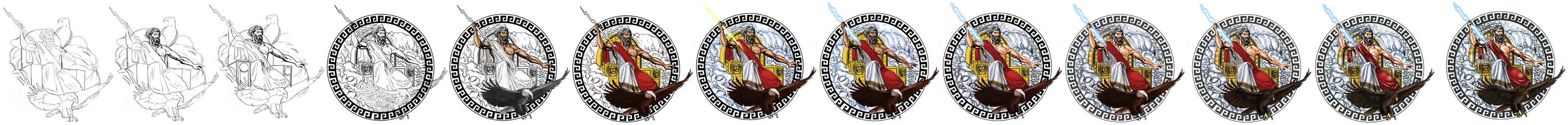 Mighty Zeus tattoo progress