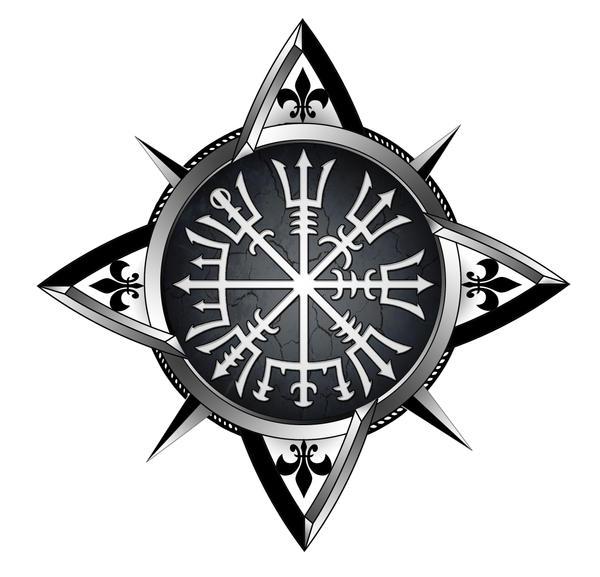 vegvisir compass tattoo by akoyma on deviantart. Black Bedroom Furniture Sets. Home Design Ideas