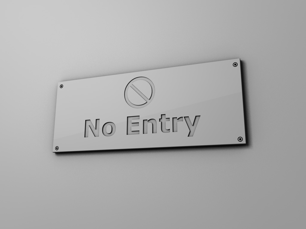 No Entry by ZULU-CAL