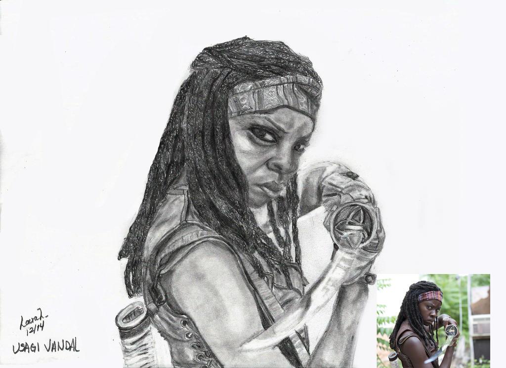 Michonne The walking Dead by UsagiVandal