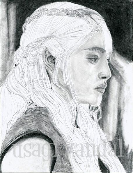 Daenerys Targaryen Game of Thrones by UsagiVandal