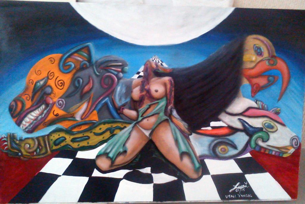 Nahuala (Nahual female) by UsagiVandal