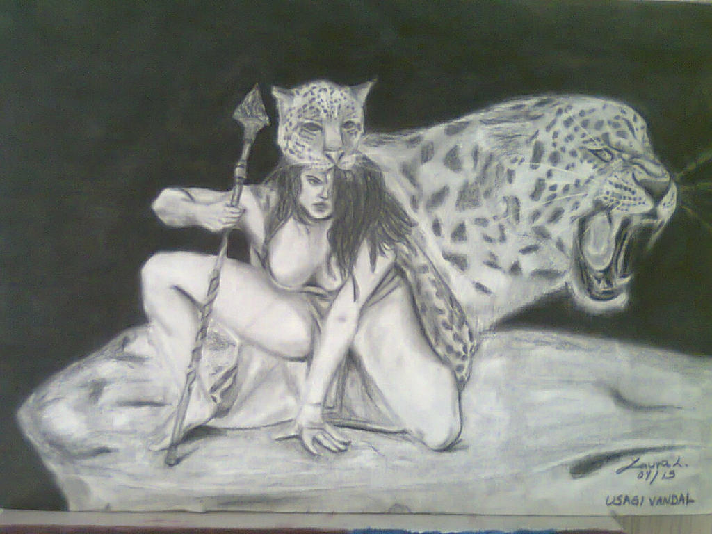 Jaguar warrior woman by UsagiVandal