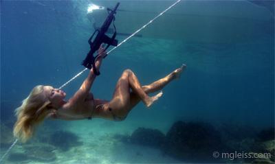 Underwater James Bond Girl by underwatermeister