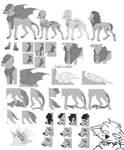 (P2U) Canine Lineart [onldaff]