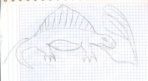 Dimetrodon by yamataquetzalcoatl