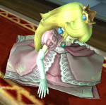 Peach sleeping in Brawl