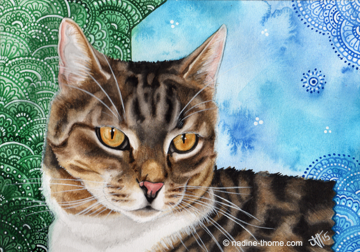 Cat Portrait by NadineThome